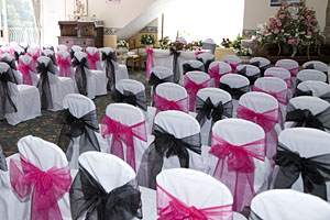 Wedding chair covers for weddings in Barnsley, Wakefield and Leeds