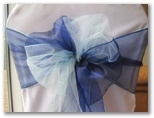 Wedding chair covers and organza sashes in Tingley