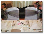 Wedding chair covers and organza sashes in heckmondwike