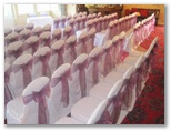 Wedding chair covers and organza sashes in Brighouse