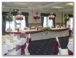Wedding chair covers and organza sashes in Leeds