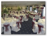 Wedding chair covers and organza sashes in Oakwell