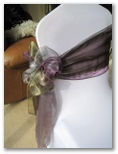 Wedding chair covers and organza sashes in Barnsley