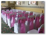 Wedding chair covers and organza sashes in Ackworth